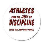 The Joy of Discipline Round Car Magnet