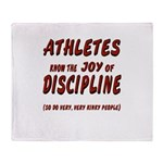 The Joy of Discipline Throw Blanket