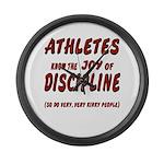 The Joy of Discipline Large Wall Clock