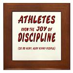 The Joy of Discipline Framed Tile