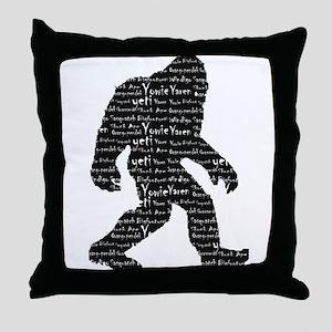 Bigfoot Sasquatch Yowie Yeti Yaren Skunk Ape Throw