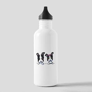 KiniArt Boston Terrier Stainless Water Bottle 1.0L