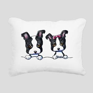 KiniArt Boston Terrier Rectangular Canvas Pillow