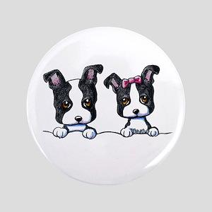 """KiniArt Boston Terrier 3.5"""" Button"""