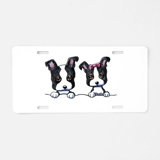 KiniArt Boston Terrier Aluminum License Plate