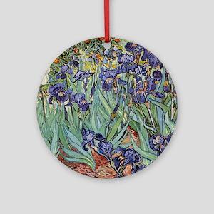 Irises by Van Gogh impressionist painting Ornament