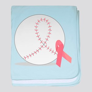 Baseball for Breast Cancer baby blanket