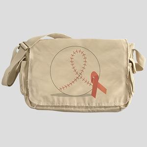 Baseball for Breast Cancer Messenger Bag