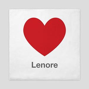 Lenore Big Heart Queen Duvet