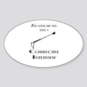 Corrective interview Sticker