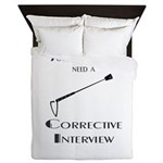 Corrective interview Queen Duvet