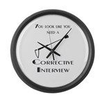 Corrective interview Large Wall Clock