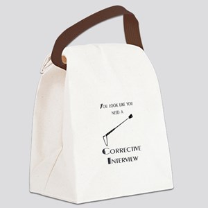 Corrective interview Canvas Lunch Bag