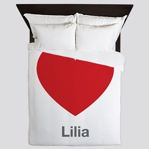Lilia Big Heart Queen Duvet