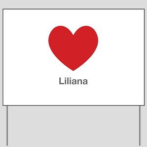 Liliana Big Heart Yard Sign