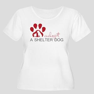 Adopt a Shelter Dog Plus Size T-Shirt