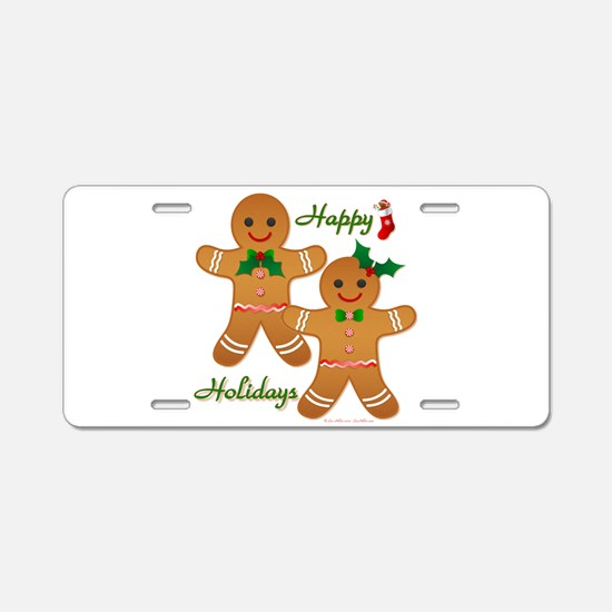 Gingerbread Man - Boy Girl Aluminum License Plate