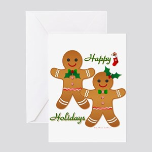 Gingerbread Man - Boy Girl Greeting Card