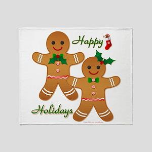 Gingerbread Man - Boy Girl Throw Blanket