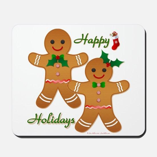 Gingerbread Man - Boy Girl Mousepad
