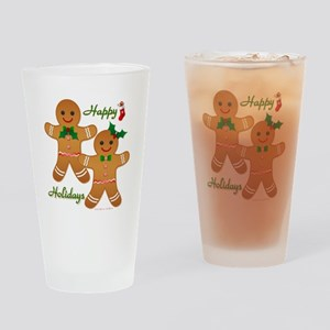 Gingerbread Man - Boy Girl Drinking Glass