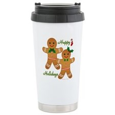 Gingerbread Man - Boy Girl Travel Mug
