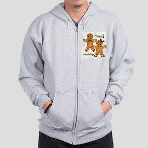 Gingerbread Man - Boy Girl Zip Hoodie