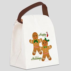 Gingerbread Man - Boy Girl Canvas Lunch Bag