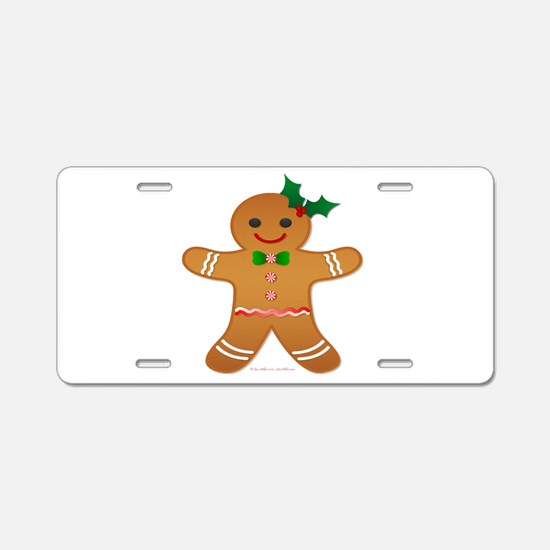 Gingerbread Man - Girl Aluminum License Plate