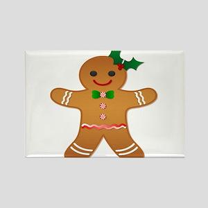 Gingerbread Man - Girl Rectangle Magnet