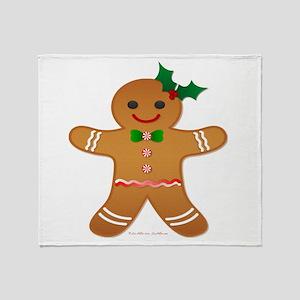 Gingerbread Man - Girl Throw Blanket