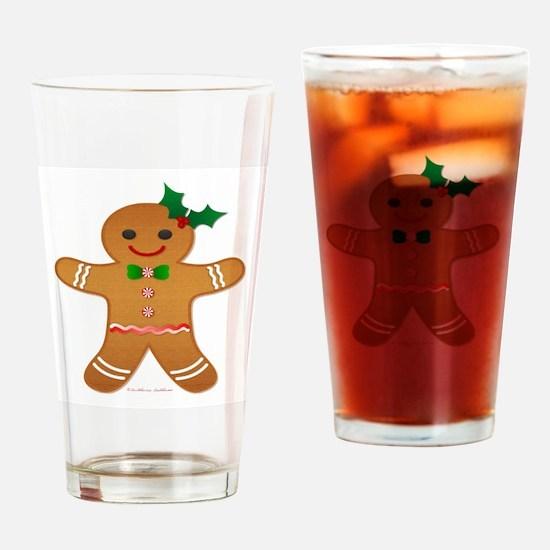 Gingerbread Man - Girl Drinking Glass