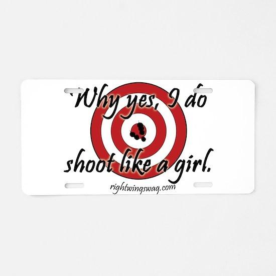 Unique Shoot like girl Aluminum License Plate