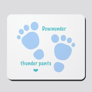 Downunder thunder pants - blue Mousepad