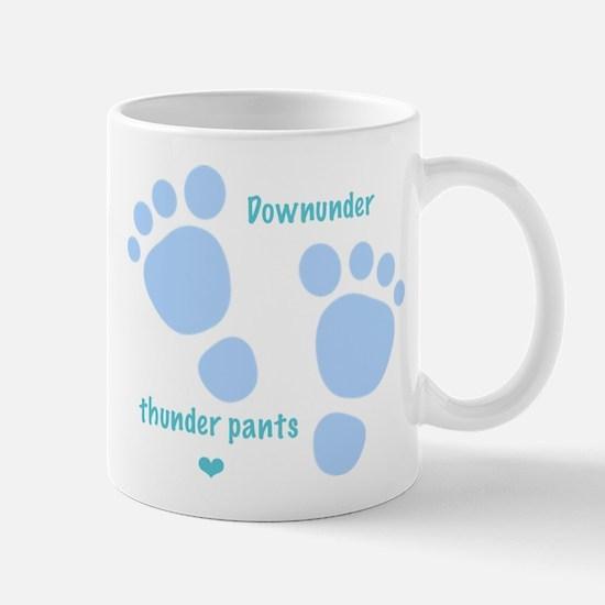 Downunder thunder pants - blue Mug