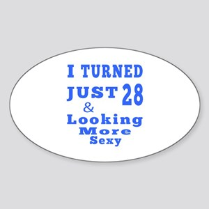 28 birthday designs Sticker (Oval)