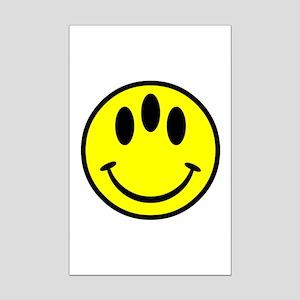 Evolution Happy Face Mini Poster Print