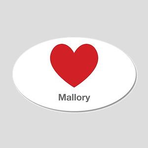 Mallory Big Heart Wall Decal