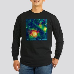 Lagoon Nebula M8 Long Sleeve Dark T-Shirt