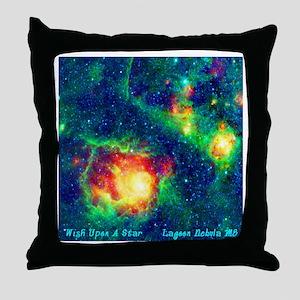 Lagoon Nebula M8 Throw Pillow