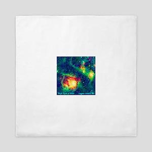 Lagoon Nebula M8 Queen Duvet