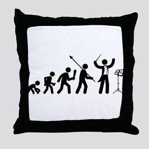Music Conductor Throw Pillow