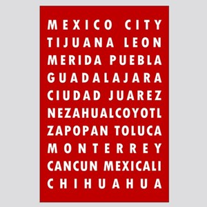 Red MX Cities Posters