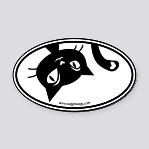 Kitty Cat Oval Car Magnet