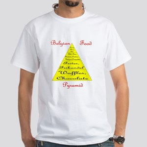 Belgian Food Pyramid White T-Shirt