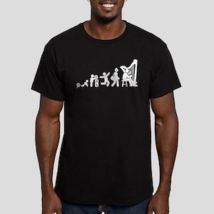 Harp Player Men's Fitted T-Shirt (dark)