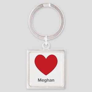 Meghan Big Heart Square Keychain