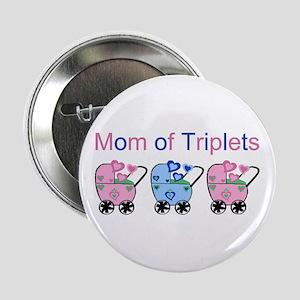 Mom of Triplets (Girls & Boy) Button