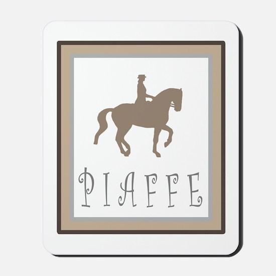 Piaffe Rider in Brown/Tan Mousepad