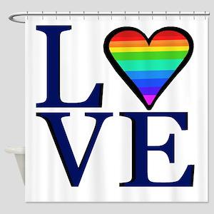 Rainbow Love Shower Curtain